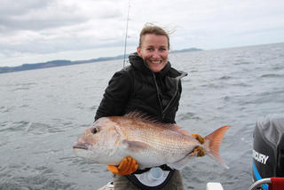 Agnes with nice snapper
